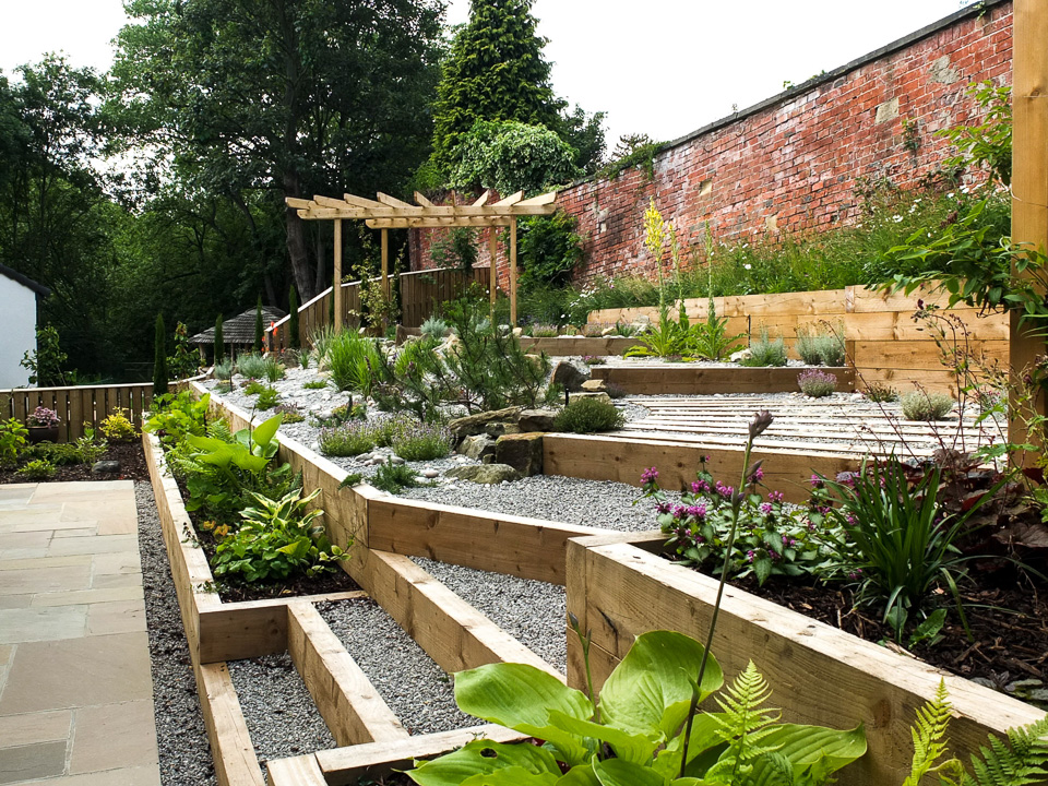 Sloping Garden Ideas | Yorkshire Gardens on Sloping Garden Ideas id=27369