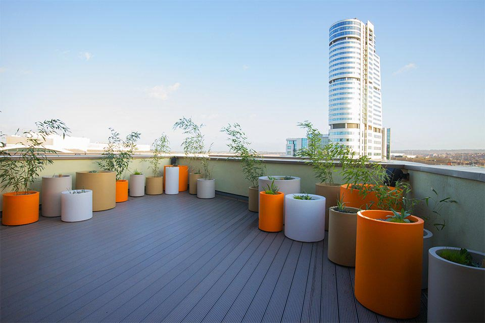 A Vibrant Roof Terrace in Leeds City Centre
